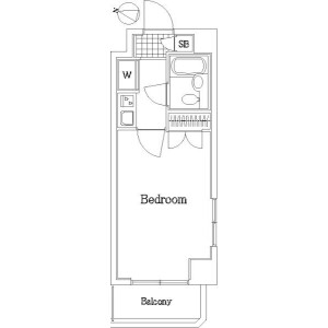 1K Mansion in Seta - Setagaya-ku Floorplan