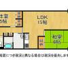 2DK Apartment to Buy in Osaka-shi Tsurumi-ku Floorplan