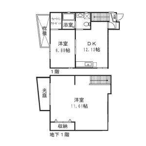 世田谷區瀬田-2LDK公寓大廈 房間格局