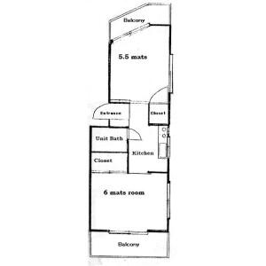 2K Mansion in Kurihara - Niiza-shi Floorplan
