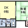 1DK Apartment to Rent in Osaka-shi Higashisumiyoshi-ku Floorplan