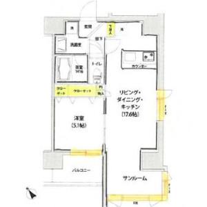 渋谷区 渋谷 1LDK マンション 間取り