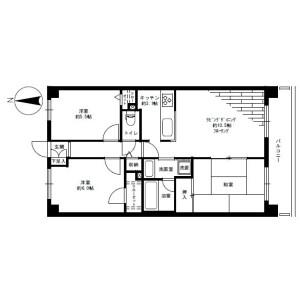 3LDK Mansion in Miharudai - Yokohama-shi Minami-ku Floorplan