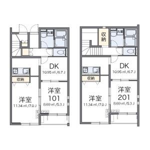 2DK Apartment in Azuchicho kamitoyora - Omihachiman-shi Floorplan