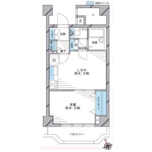 1LDK {building type} in Okubo - Shinjuku-ku Floorplan