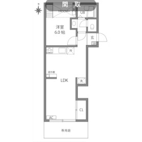 1LDK Apartment in Kamisoshigaya - Setagaya-ku Floorplan