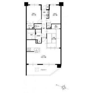 横浜市金沢区富岡東-3LDK{building type} 楼层布局