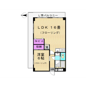 1LDK Mansion in Yanaka - Adachi-ku Floorplan