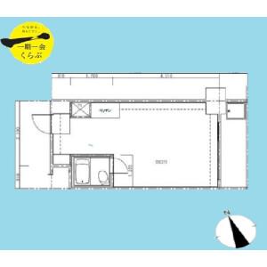 1R {building type} in Shinkawa - Chuo-ku Floorplan