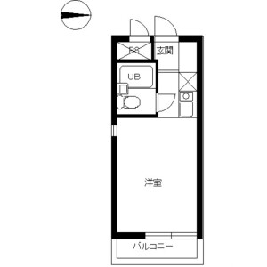 1K Mansion in Aihara - Sagamihara-shi Midori-ku Floorplan