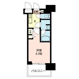 1K Mansion in Minamisaiwaicho - Kawasaki-shi Saiwai-ku Floorplan
