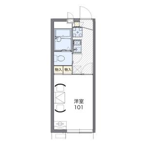 1K Mansion in Yamaguchi - Tokorozawa-shi Floorplan