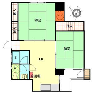 2LDK Apartment in Sengencho - Yokohama-shi Nishi-ku Floorplan