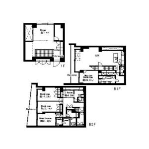 5LDK Apartment in Motoazabu - Minato-ku Floorplan