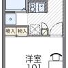 1K マンション 大阪市阿倍野区 間取り