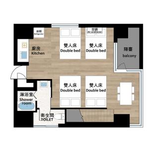 台东区東上野-1R公寓大厦 楼层布局