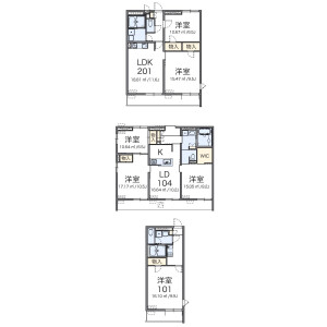 2LDK Mansion in Higashioi - Shinagawa-ku Floorplan