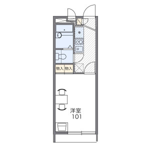 1K Apartment in Oriono - Osaka-shi Sumiyoshi-ku Floorplan
