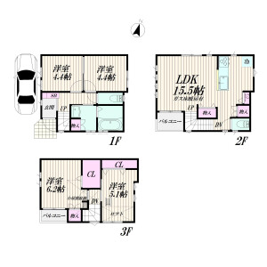 4LDK Apartment in Nishimagome - Ota-ku Floorplan