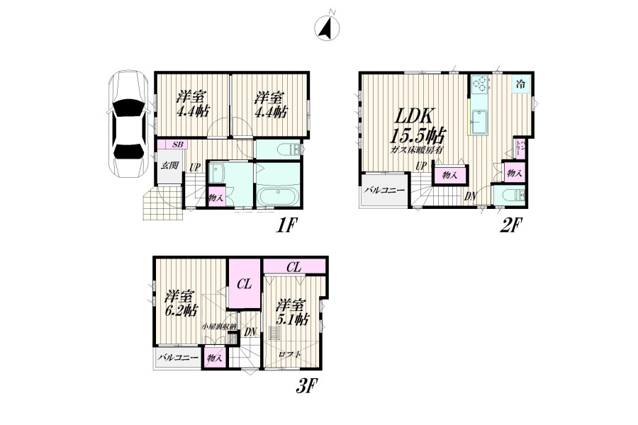 4LDK Apartment to Buy in Ota-ku Floorplan