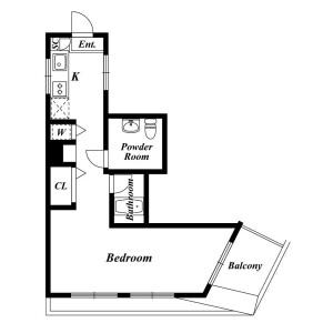 1K Apartment in Koyamadai - Shinagawa-ku Floorplan