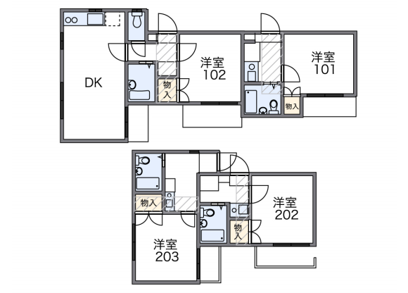 1K Apartment to Rent in Yamato-shi Floorplan