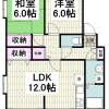2LDK Apartment to Rent in Yokosuka-shi Floorplan