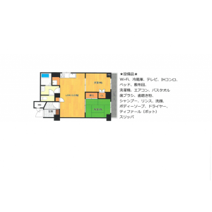 2DK Mansion in Kozu - Osaka-shi Chuo-ku Floorplan