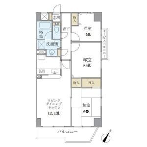 3LDK Mansion in Seta - Setagaya-ku Floorplan