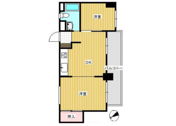 2DK Apartment to Buy in Tomisato-shi Floorplan