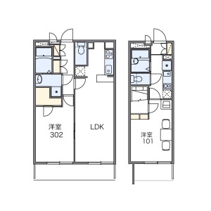 1K Apartment in Futaba - Shinagawa-ku Floorplan