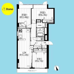 3LDK {building type} in Sekimachiminami - Nerima-ku Floorplan