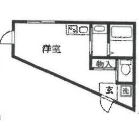 1R Apartment in Shimoigusa - Suginami-ku Floorplan