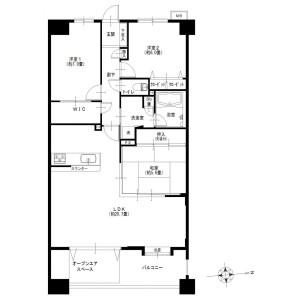 3LDK {building type} in Kosugaya - Yokohama-shi Sakae-ku Floorplan