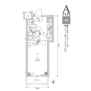 1K Apartment in Toyotamakita - Nerima-ku Floorplan