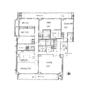 港区元麻布-5LDK公寓 楼层布局