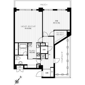 涩谷区東-1LDK公寓大厦 楼层布局