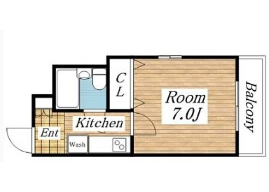 1K Apartment to Rent in Osaka-shi Tennoji-ku Floorplan