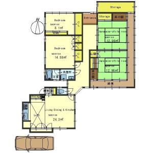 4LDK House in Yoshida kaguraokacho - Kyoto-shi Sakyo-ku Floorplan