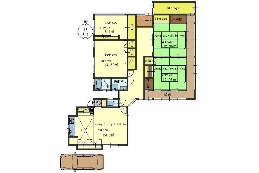 4LDK House to Buy in Kyoto-shi Sakyo-ku Floorplan