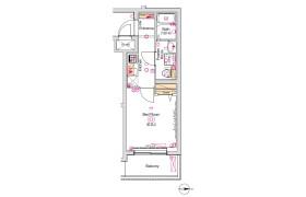 品川區西品川-1K公寓大廈