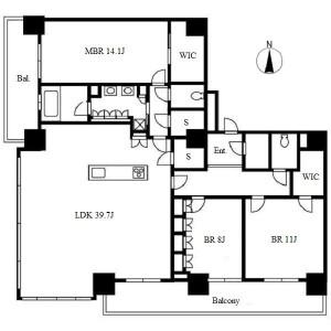 3LDK Apartment in Sakae - Nagoya-shi Naka-ku Floorplan