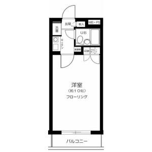 1K Mansion in Kamiochiai - Shinjuku-ku Floorplan