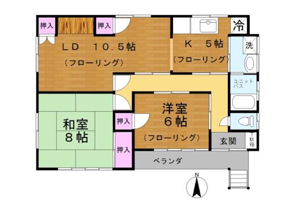 2LDK House to Rent in Adachi-ku Floorplan