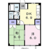 2LDK Apartment to Rent in Chosei-gun Ichinomiya-machi Floorplan