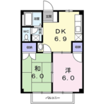 2LDK Mansion in Ichinomiya - Chosei-gun Ichinomiya-machi Floorplan