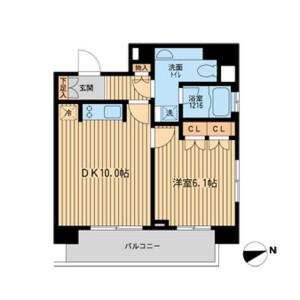 1DK Mansion in Shibaura(2-4-chome) - Minato-ku Floorplan