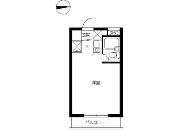 1R Apartment to Rent in Yamato-shi Floorplan