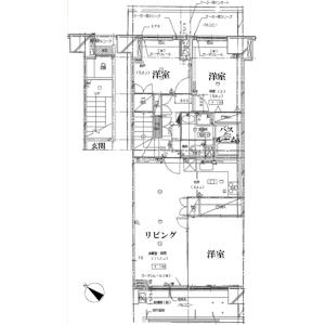 3LDK Apartment in Yokokawa - Sumida-ku Floorplan