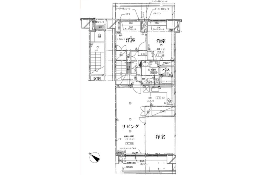 3LDK Apartment to Buy in Sumida-ku Floorplan